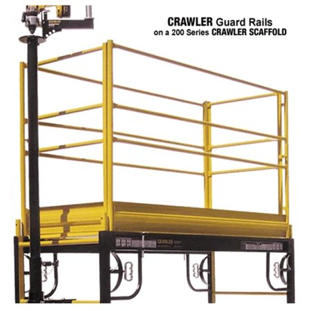 Crawler S-GR6 6 Foot Guard Rail with Toe Boards - 2