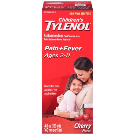 enfants Tylenol suspension orale, cerise 4 Fl. Oz.