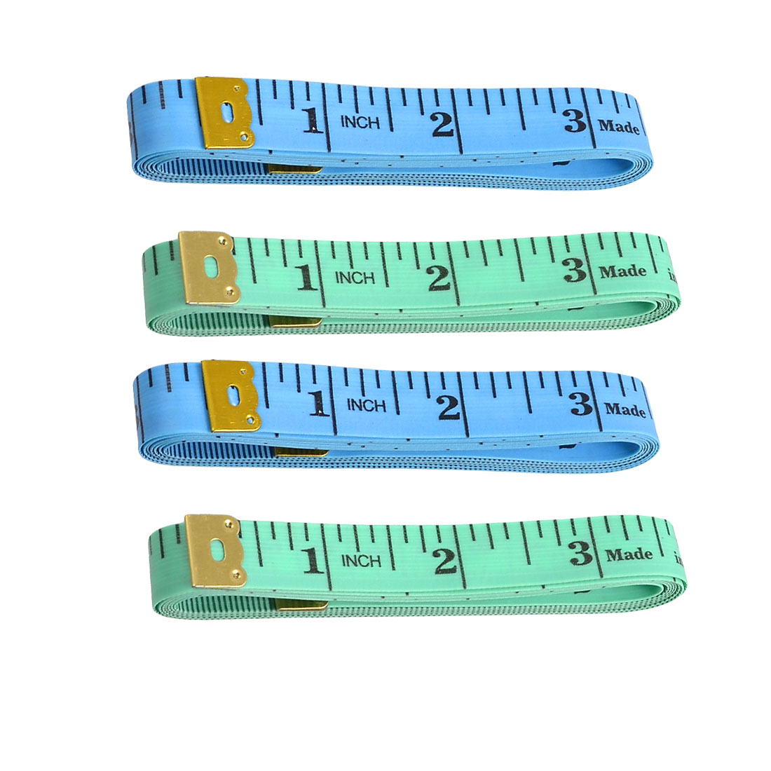 Unique Bargains 60-Inch Inch/Metric Tape Measure Sewing Tailor Cloth Ruler 4 Pcs