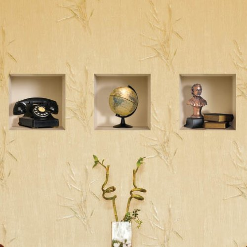 Nisha 3D Effect Phone / Globe / Bust / Book Wall Mural