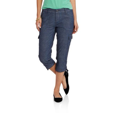 83e20b6d24f755 Faded Glory - Women's Cargo Capri Pants - Walmart.com