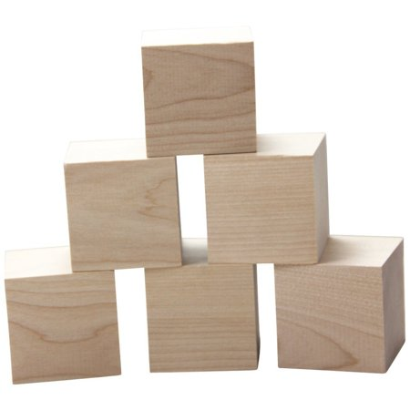 "Wooden Cubes – 2"" Baby Wood Square Blocks – For Puzzle Making, Crafts, And DIY Projects – 12 Pieces by Woodpecker Crafts ()"