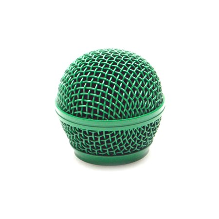 Seismic Audio Replacement Green Steel Mesh Microphone Grill Head - Fits Shure SM58 and Similar Green - SA-M30Grille-Green