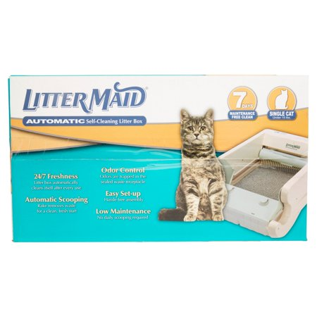 Littermaid Single Cat Self-Cleaning Cat Litter Box, (Best Cat Litter Box Self Cleanings)