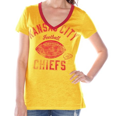 Kansas City Chiefs Womens G Iii Nfl   Flea Flicker   V Neck T Shirt