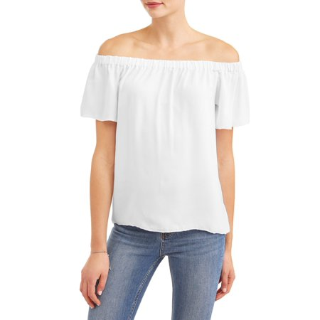 - Women's Short Sleeve Off the Shoulder Top