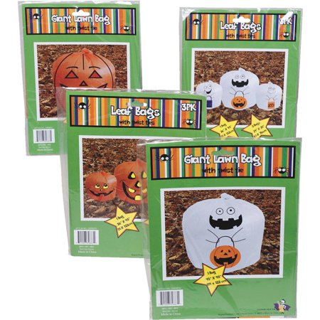 REGENT PRODUCTS CORP Pumpkin/Ghost Leaf Bag G89687N Pack of - Delton Products Halloween