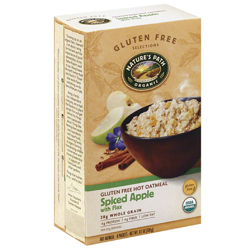 Nature's Organic Path Gluten Free Selections Spiced Apple with Flax Gluten Free Hot Oatmeal, 11.3 oz, (Pack of 6)
