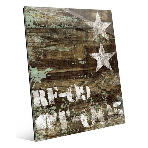 Click Wall Art 'RF-09 Typography and Stars' Graphic Art