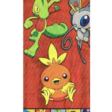Pokemon 'Pokemon Party' Plastic Table Cover (1ct) - Pokemon Table