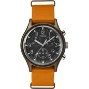 Timex TW2T10600 MK1 Men's Analog Chronograph Aluminum Watch Orange Nylon Strap