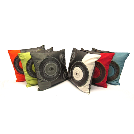 Leather Circle Decorative Throw Pillow Cushion Sofa Bed 16