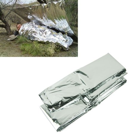 Mosunx Silver Thin Emergency Blanket Survival Rescue Curtain Outdoor Life-saving