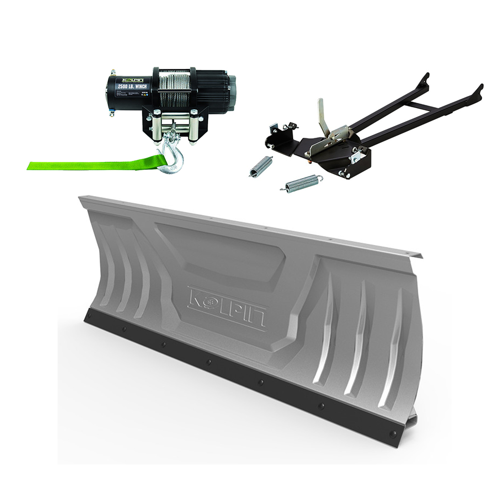 Complete Kolpin Plow & Winch Kit for 2002-2005 Kawasaki P...