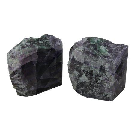 Natural Fluorite Gemstone Bookend Set - image 4 de 4