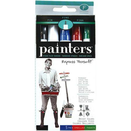 Painters Paint Markers - Opaque - Fine Tip - 5 Colors