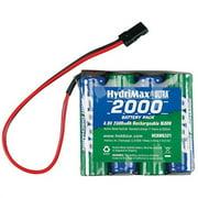 Hobbico HydriMax NiMH 4C 4.8V 2000mAh Flat AA Rx U Battery Pack