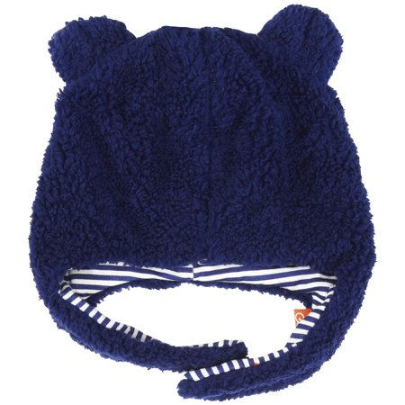 84a4b21666c Magnificent Baby - Magnificent Baby Boys Solid Warm Fleece Winter Hat with  Cotton Lining Easy Magnet Close Chin Strap and Ear Flap 12-18 Months Navy  Blue ...
