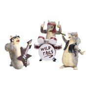 What On Earth Exclusive Wild Tails Squirrel Rock Band Figurine Set