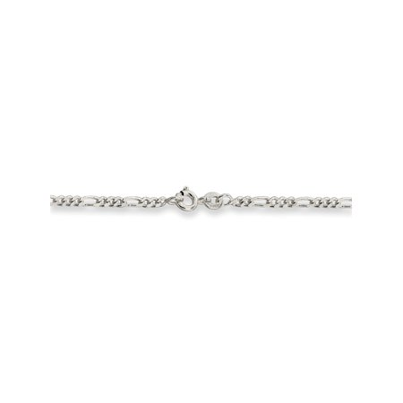 2.5 mm 925 Sterling Silver Figaro Chain Necklace - 24 Inch