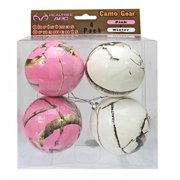 NEXT Camo Christmas Ornaments Pink & Winter White 4 pk Camouflage