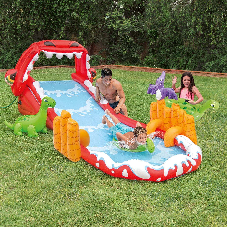 "Intex Inflatable Dinosaur Surf 'n Slide, 176"" x 76"" x 59"""