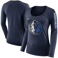 Dallas Mavericks Nike Women's Primary Logo Long-Sleeve T-Shirt - Navy