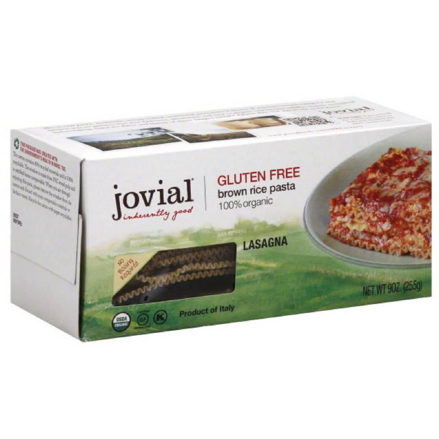 Jovial Brown Rice Lasagna Pasta, 9 oz, (Pack of 4)