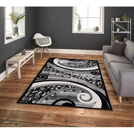Fabulous Pyramid Home Decor Area Rugs 5X7 Area Rugs For Living Room Area Rug For Bedroom Kitchen Dining Living Room Clearence 49 X 7 Modern Black Grey Download Free Architecture Designs Sospemadebymaigaardcom