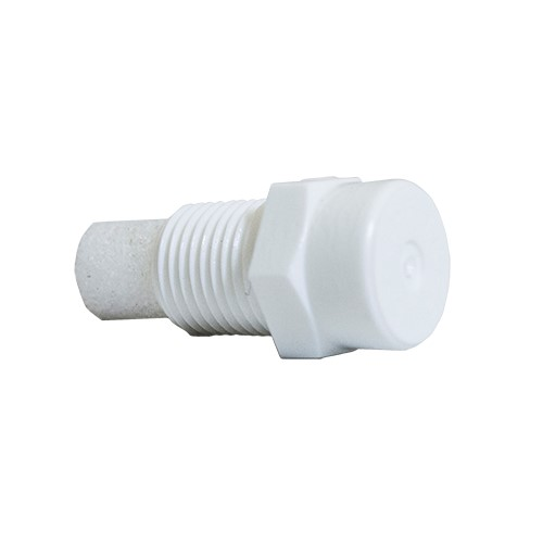 "100 Pack) Plastic Fog Nozzle W Poly Filter Misting Poultry White 1 8"" NPT 1 GPH by Misting Systems"