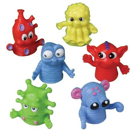 Purple Monster Puppet (US Toy - Dozen Assorted Color Monster Finger Puppets -1.5