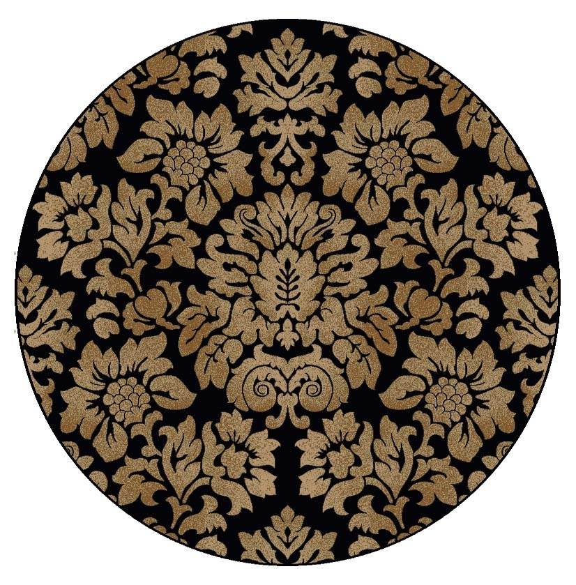 Como Area Soft Olefin Rug in Transitional Style (5.3 ft. Dia.)