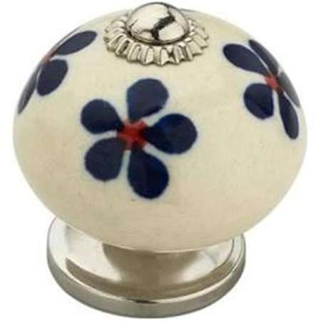 Mascot Hardware CK337 1.62 in. Anemone Blue & White Cabinet Knob, Pack of 5 - image 1 of 1