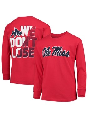 Youth Russell Athletic Red Ole Miss Rebels Graphic Long Sleeve T-Shirt