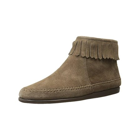 9473191162845 Aerosoles Womens Linbo Suede Fringe Moccasin Boots Brown 6.5 Medium (B,M)