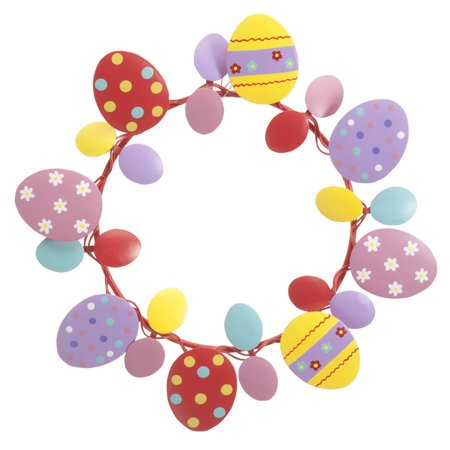 "Egg Wreath (Metal Easter Egg Wreath by Fox River Creations™, Spring Décor, 8"")"