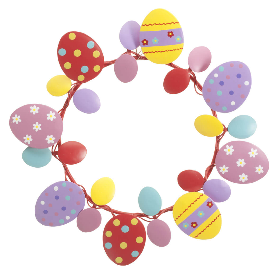 """Metal Easter Egg Wreath by Fox River Creations™, Spring Décor, 8"""" Diameter"""