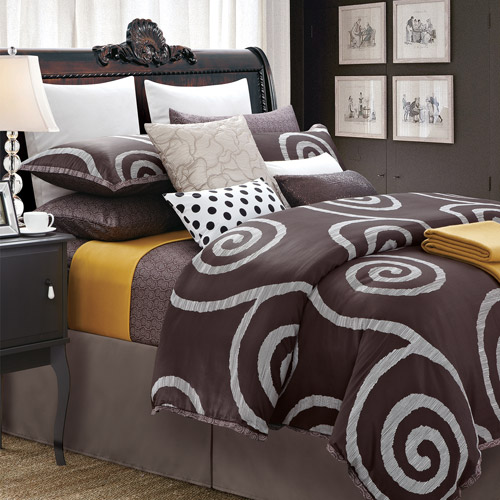 Serenity Coffee 7-Piece Duvet Set