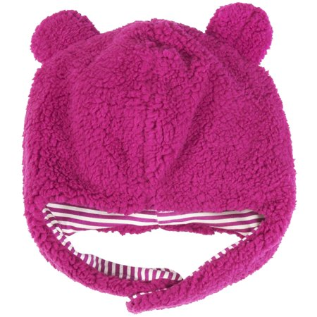 Magnificent Baby Girls Solid Warm Fleece Winter Hat with Cotton Lining Easy  Magnet Close Chin Strap and Ear Flap 6-12 Months Fuchsia Hot Pink (Pilot Hat ) c29f8d3a90c