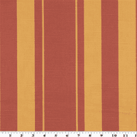 Red/Orange Striped Print Sateen Home Decorating Fabric, Fabric By the Yard