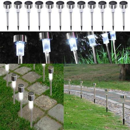 Ktaxon 24 Pack Stainless Steel Led Solar Energy Light Lawn Garden Lamp Landscape Path ()