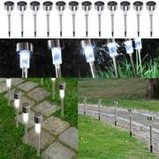 Ktaxon 24 Pack Stainless Steel Led Solar Energy Light Lawn Garden Lamp Landscape Path