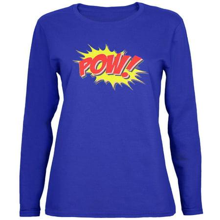 - POW Comic Book Super Hero Womens Long Sleeve T Shirt