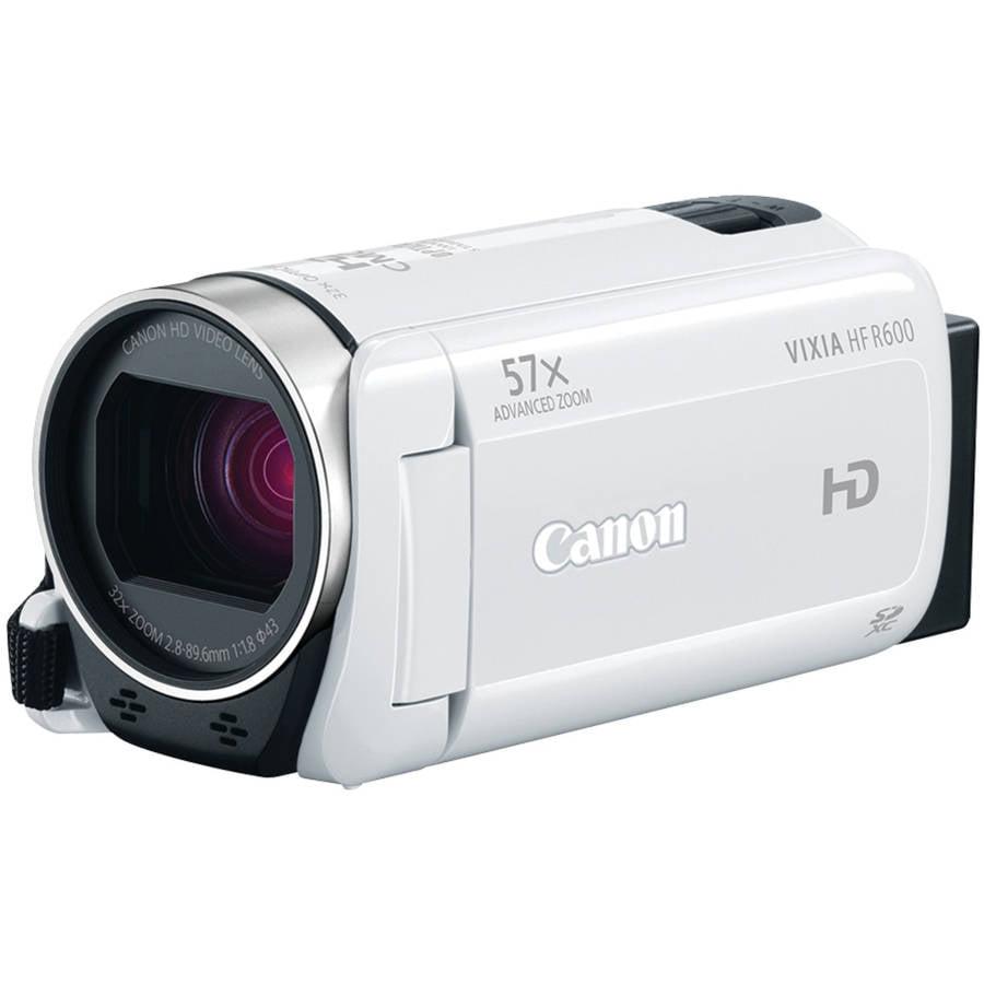 Canon White 0280C002 Vixia HF R600 Full HD Camcorder