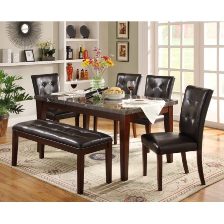 Swell Weston Home Faux Marble 6 Piece Dining Set Beatyapartments Chair Design Images Beatyapartmentscom