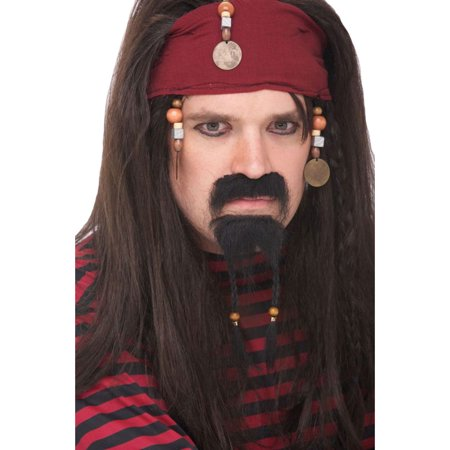 Morris Costumes Mens Goatee Pirate Mustache, Style PM531261 - Pirate Moustache