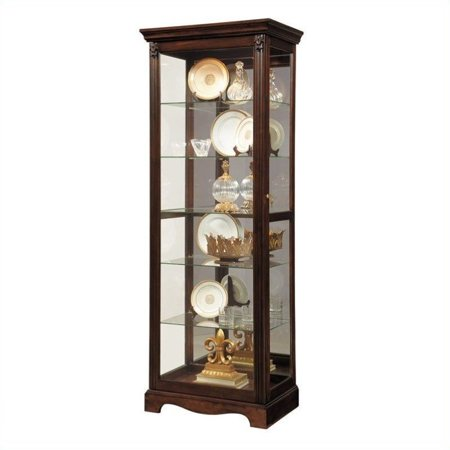 Cherry Carved Curio Cabinet - Pulaski Curio Classic Display Cabinet in Warm Cherry