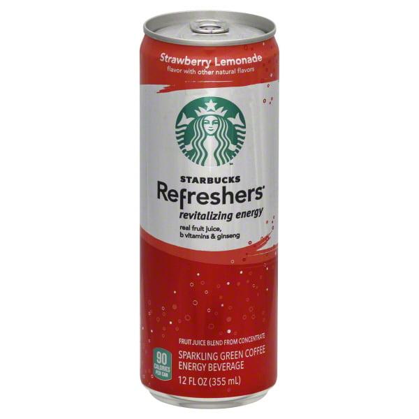 Starbucks Refreshers Strawberry Lemonade Sparkling Green