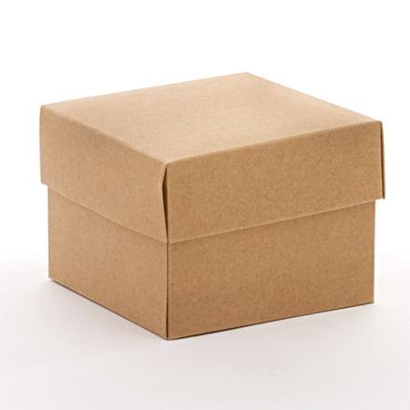 50ea - 10 X 10 X 3 Kraft Heavy Wall Gift Box Bottom by Paper (Heavy Gift Boxes)