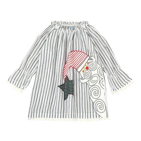 DZT1968 Toddler Kids Baby Girls Santa Striped Princess Dress Christmas Outfits Clothes - Santa Baby Outfits